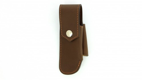 Etui chasse cuir  - Chataigne