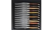 Coffret 12 couteaux - Bois du monde