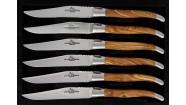 Coffret 6 couteaux - Olivier